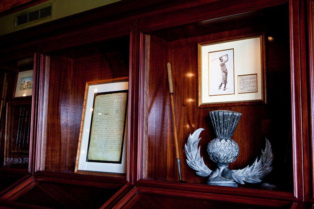 memorabilia displayed at Thistle Golf Club